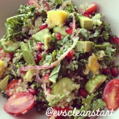 ... quinoa parfait berry and bacon kale salad kale quinoa fresh kale salad