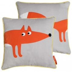 Grey Fox Organic Cotton Cushion