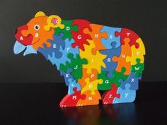 Alphabet puzzle bear with fish - Scroll Saw Woodworking & Crafts Photo Gallery
