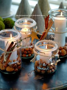 Do you also like to have candles in the house? These 11 sweet lanterns for the winter Do you also like to have candles in the house? These 11 sweet lanterns for the winter are really g candles house lanterns sweet these winter winterbastelnkinder win Christmas Candle Decorations, Advent Candles, Christmas Candles, Noel Christmas, Diy Candles, Winter Christmas, Winter Diy, Ideas Candles, Deco Table Noel