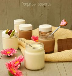 YOGURES CASEROS en yogurtera