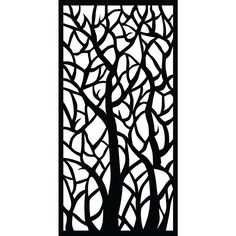 0.6 in. x 71.6 in. x 2.95 ft. Woodland Recycled Plastic Charcoal Decorative Screen (