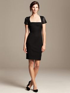 Roland Mouret Collection Lace-Sleeve Dress Petite, $165. I try to only wear flared dresses because I have acid reflux, but I really like this one. I know it's expensive. I'll probably buy this one myself... eventually in life.