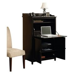 Sauder Edge Water Smartcenter Secretary Desk - Estate Black