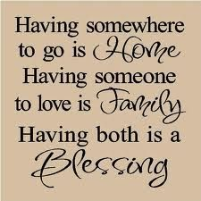 "<3..Home...Family...Blessing..<3--I just bought a ""wallie"" that says this...put it in my living room...love it! G"