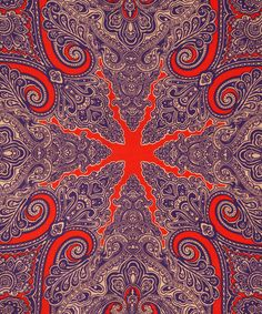 Paisley-historic pattern originated in Sassanid Dynasty (200-650AD) Persia. Popularized mid-1800's from shawl worn by young Queen Victoria, copied & woven in Paisley, county of Renfrewshire, Scotland