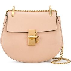 Chloé Drew shoulder bag ($1,690) ❤ liked on Polyvore featuring bags, handbags, shoulder bags, beige, shoulder hand bags, chloe handbags, chloe purses, shoulder bag handbag and chain strap purse