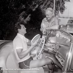 Rock Hudson with Charles Farrell at The Racquet Club circa 1954-55