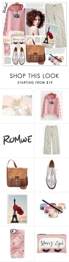 """""""Romwe.Eyelet Design Slogan Print Hoodie"""" by natalyapril1976 ❤ liked on Polyvore featuring Madewell, SHARO, MM6 Maison Margiela, Pottery Barn, Bellápierre Cosmetics, Casetify and Accessorize"""
