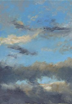 Quiet Evening Sky - Original Oil Painting. $65.00, via Etsy.
