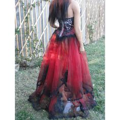 Black and red skeleton day of the dead halloween costume undead bride... ($349) ❤ liked on Polyvore featuring costumes, skeleton costume, skeleton bride costume, goth halloween costumes, gothic bride costume and gothic costumes