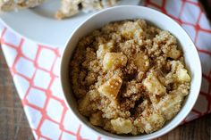 Apple Cinnamon Quinoa Cereal 1 cup uncooked quinoa 1 Tbsp butter, divided 2 medium apples, chopped 1 1/2 cups cold water 1 tsp. cinnamon 1/2 tsp. apple pie spice 3 Tbsp organic brown sugar 1/4 cup fat-free skim milk - See more at: http://www.eat-yourself-skinny.com/2012/09/apple-cinnamon-quinoa-cereal.html#sthash.TjRHNSVg.dpuf