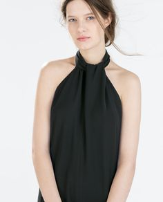 Image 2 of CREPE JUMPSUIT WITH BACK BOW from Zara