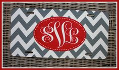 Personalized Monogrammed License Plate Car Tag by ChicMonogram, $30.00