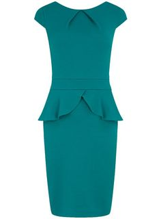 Looking for a cute dress to wear from day to dinner? Check out the @Dorothy_Perkins green waffle peplum dress $39, get it here: http://rstyle.me/~e53n
