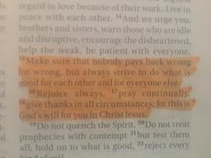 """""""Make sure that nobody pays back wrong for wrong but always strive to do what is good for each other and for everyone else. Rejoice always pray continually give thanks in all circumstances; for this is God's will for you in Jesus Christ."""" Thessalonians 5:25-17 I learn more and more everyday by studying the bible but one thing I am a firm believer in is that we all treat people kindly. Kindness is my religion. Hope y'all are all having a very happy Saturday! I love each and every one of you…"""