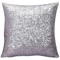 Malloom Solid Color Glitter Sequins Throw Pillow Case Cafe Home Decor... (21 RON) ❤ liked on Polyvore featuring home, home decor, throw pillows, silver throw pillows, glitter throw pillows, outdoor toss pillows, colored throw pillows and outdoor accent pillows