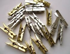Gold and Silver Clothespin