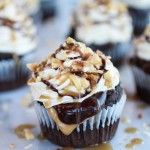 Snickers Coconut Caramel Cupcakes