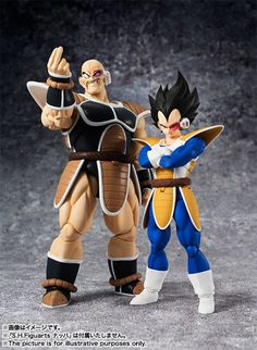 Dragon Ball Z Official S.H. Figuarts Nappa & Vegeta Figure Images