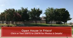 OPEN HOUSE tomorrow, Saturday, from 12pm to 3pm! 13350 Hursey Dr Frisco TX 75035 - Coming Soon! $245,000 | 3 BEDROOMS | 2 (2 full ) BATHROOMS | 1640 SQUARE FEET  For more information, call at 972-984-0429 or email at sheila.fejeran@gmail.com. http://13350hurseydr.beautifulhome.forsale/