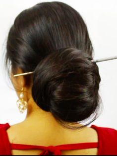 Beautiful Buns, Beautiful Girl Indian, Gorgeous Hair, Amazing Hair, Most Beautiful Bollywood Actress, Big Bun, Bun Hairstyles For Long Hair, Super Long Hair, Indian Beauty Saree
