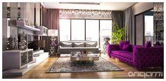 Salon Tasarımı : Eklektik Oturma Odası Origami Mobilya