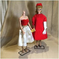 Red Flare, Swing Coats, Vintage Barbie Dolls, Dimples, Black Shoes, Doll Clothes, Formal Dresses, Model, Fashion
