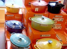 Le Creuset -- I'm a collector of Le Creuset, even though I'm not a fan of cooking :)