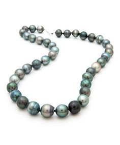 Take a look at this Black Tahitian Pearl Necklace by NOA Tahitian Pearls on #zulily today! $599 !!