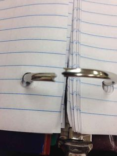 Binder rings that had one job. | 45 Photos That Will Annoy You More Than They Should