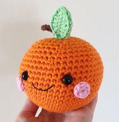 Happy Orange amigurumi by Super Cute Design