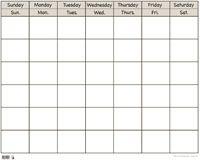 finally found a plain white calendar, let the creating begin!