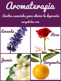 Aromaterapia: aceites esenciales para aliviar la depresión.