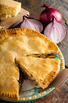 Made with a regional cheese, this humble and homely Lancashire cheese and onion plate pie, from Only Crumbs Remain is full of flavour and comfort. Cheese Recipes, Pie Recipes, Cooking Recipes, Cheese Pie Recipe, Savory Pie Recipe, Irish Recipes, Sweet Recipes, Quiches, Cheese And Onion Pie
