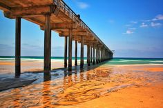 Low tide at Scripps Pier in La Jolla, CA. Photo by Eric Rubens Photography