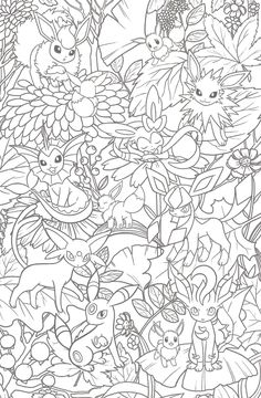Welcome to the world of Pokemon — pokescans: Korean postcard Adult Coloring Book Pages, Cute Coloring Pages, Disney Coloring Pages, Printable Coloring Pages, Free Coloring, Coloring Pages For Kids, Coloring Books, Pokemon Coloring Sheets, Pokemon Craft
