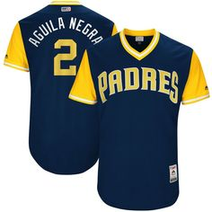 "Jose Pirela ""Aguila Negra"" San Diego Padres Majestic 2017 Players Weekend Authentic Jersey - Navy"