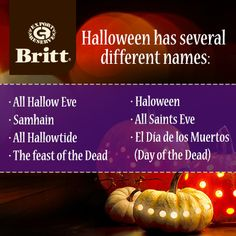 Cafe Britt Halloween Facts
