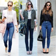 Dos anos 90 para hoje em dia as calças de cintura subida tornaram-se uma peça muito apreciada.