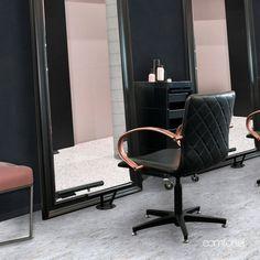 26 Best Metallic Blush Salon Design Images Blush Salon Salon