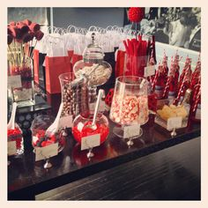 Bridal Shower Black White And Red Candy Bar Take Out The Red