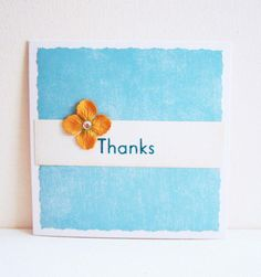 Thanks Thank You  Handmade Greeting Card by DwaineDesign on Etsy, $4.25