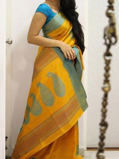 Poly Silk Orange Saree with Matching Color silk Blouse. It contained of Printed. The Blouse which can be customized up to bust size This Unstitch Saree Length mtr including mtr Blouse. Blue Silk Saree, Raw Silk Saree, Orange Saree, Indian Silk Sarees, Soft Silk Sarees, Cotton Saree, Green Saree, Yellow Saree, Saree Blouse Neck Designs
