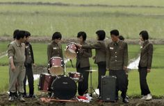 The band that played for rice farmers in North Korea. (They decided music was better for the rice than just talking to it.)