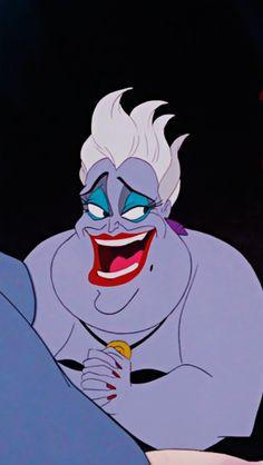 Ursula Disney, Evil Disney, Arte Disney, Disney Fan Art, Disney Villains, Disney Movies, Disney Pixar, Wallpaper Animes, Cartoon Wallpaper