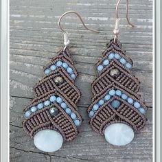 Macrame earrings by IGioielliDiAle on Etsy https://www.etsy.com/listing/250118034/macrame-earrings