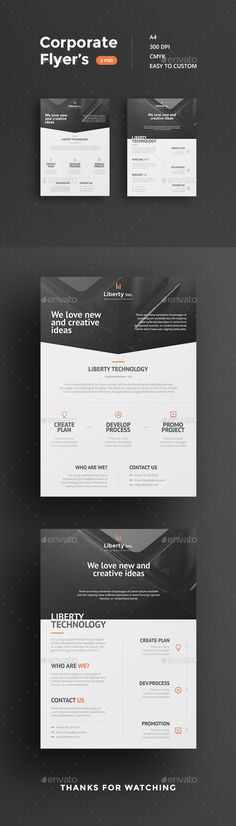 Corporate Flyers Template PSD #design Download: http://graphicriver.net/item/corporate-flyers/12886679?ref=ksioks