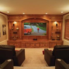 Theater room: built in shelving