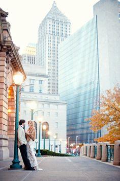 Scobey Photography, Pittsburgh couple shot, urban, vintage feel, wedding